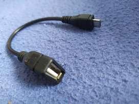 Adaptador OTG para conectar controles y demás al celular