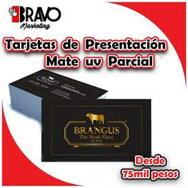 TARJETAS DE PRESENTACIÓN MATE UV PARCIAL