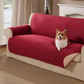 Protector de sofá doble fas 3 puestos (vinotinto)