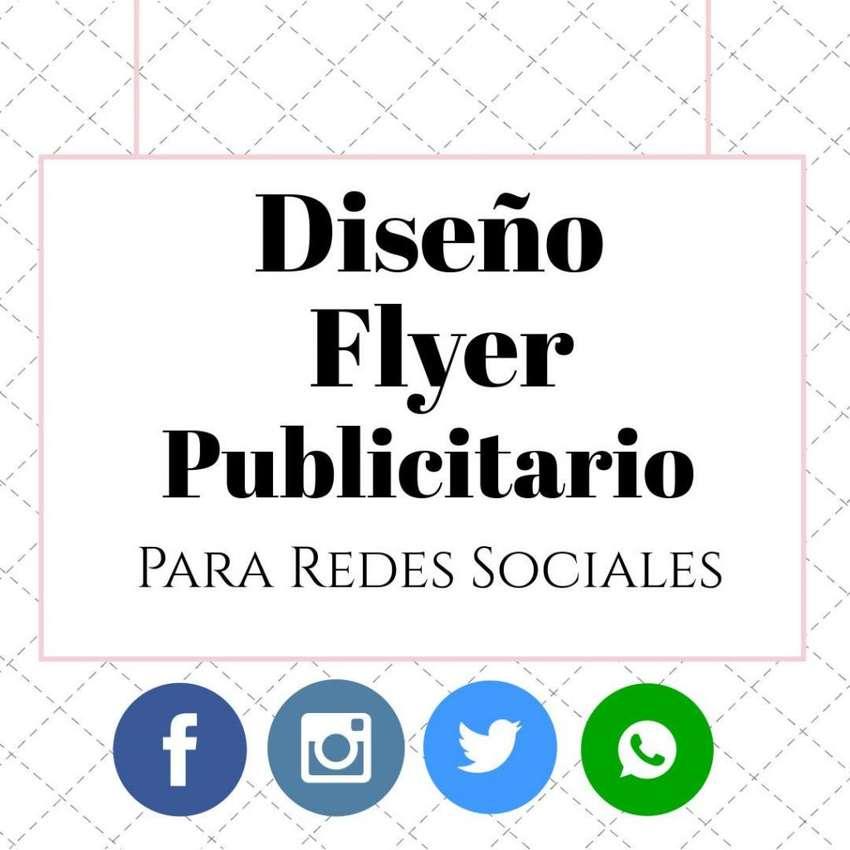 Diseño Flyer digital publicitario para redes sociales! 0