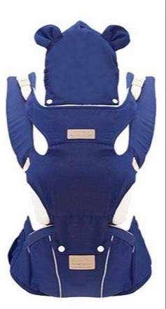 Canguro Portabebés ergonómico azul de algodón + poliéster (Precio conversable))