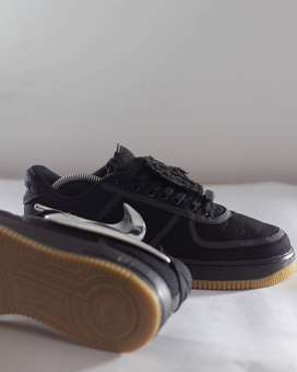Nike Air Force 1 07 Travis Scott Black Sneakers