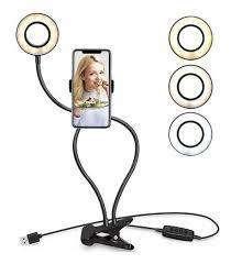 Aro Lámpara De Luz 3 Luces Con Adaptador Para El Celular
