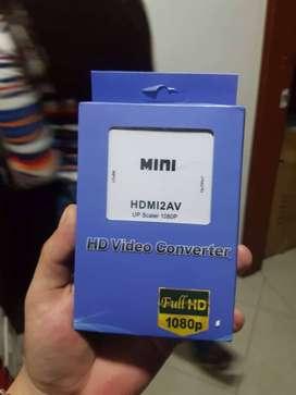 Conversion de HDMI a AV Adaptador Convertidor Hdmi A Rca / Av Tv