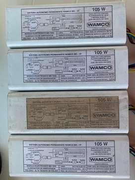 Equipo emergencia wamco 105w sin baterias