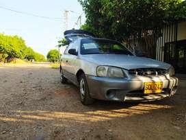 GANGAZO AUTOMOVIL  HYUNDAI ACCENT GL 2002 PERFECTO ESTADO PARA TRABAJAR