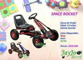 Space Rocket Carro de Pedal para Niños