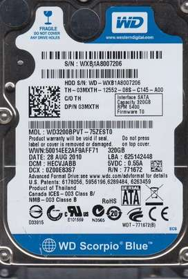Disco Duro Western Digital 320 GB