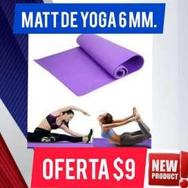 MATT DE YOGA FITNESS DE 6MM