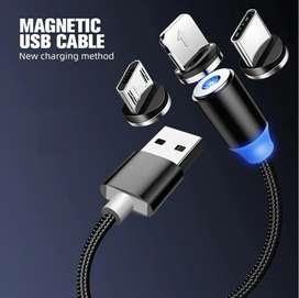 Cable cargador magnético