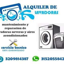 Alquiler , servicio técnico ,lavadiras neveras ,aires acondicionados etc