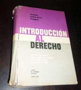 INTRODUCCION AL DERECHO . AFTALION . GARCIA OLANO . LIBRO EL ATENEO 1960
