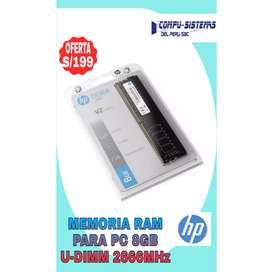 Memoria ram para pc 8GB U-dimm 2666mhz