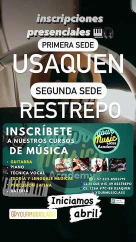 CURSOS DE MUSICA