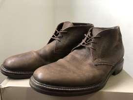 Zapatos botines cafes cuero marca FREEPORT TALLA 44