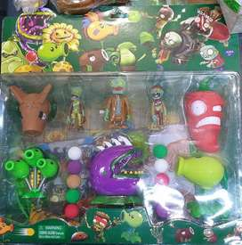 set plantas zombies x 8