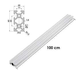 Perfil De Aluminio Estructural 2040 slot- Cnc - 1000mm