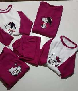 Pijamas Micropolar con Diseños Bordados para Dama!