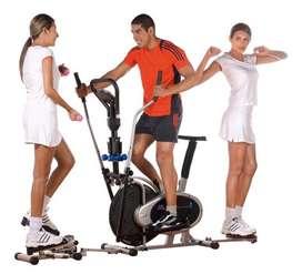 Bicicleta estatica spinning multifuncional diez ejercicios
