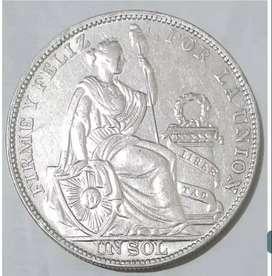Monedas de 1 sol antiguas de plata