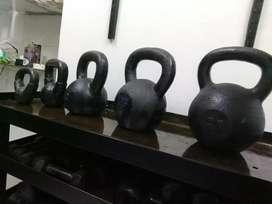 Pesas rusas kettlebells $240 el kg