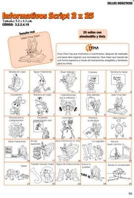 Sellos Didácticos Informativos Script 2 X 25