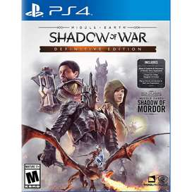 Middle-Earth: Shadow of War Definitive Edition - PS4 (NUEVO)