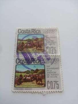 COSTA RICA ESTAMPILLAS ANTIGUAS, CONSECUTIVA, 150 ANIVERSARIO DE LA ANEXION DEL PARTIDO DE NICOYA