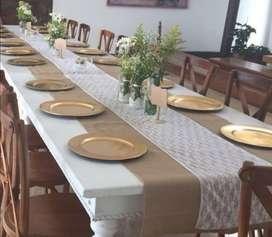 Alquiler de sillas,mesas,manteles,menaje para eventos, todos los estilos