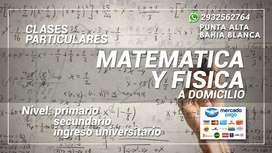 CLASES PARTICULARES MATEMATICA Y FISICA
