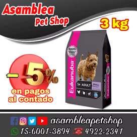 Eukanuba Adulto Small por 3 kg - Alimento para perros adultos razas pequeñas
