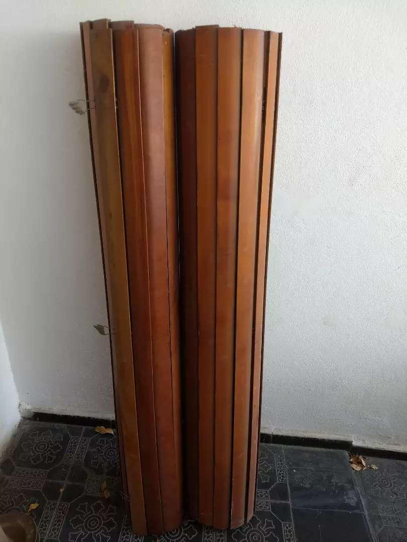 Vendo cortinas enrollables de madera. A reparar 0