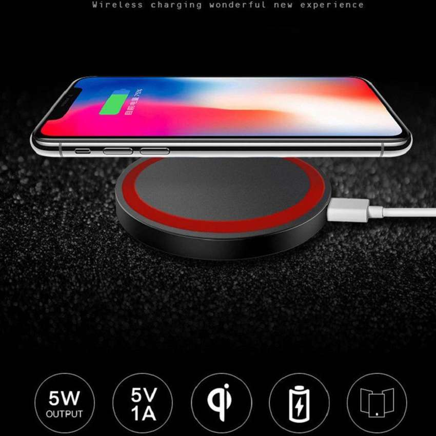 Cargador Qi Wireless For iPhone XS Max XR 8 For Samsung S8 Plus S9 Plus Note 8 Q5 Power Charger Charging Pad 0