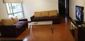 Rento departamento amoblado 80mts2, 2 dormitorios, Sector Republica del Salvador