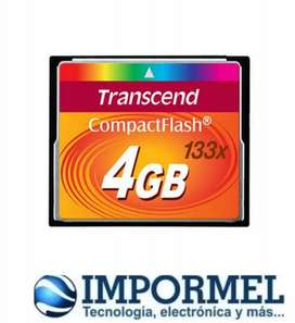 Memoria Compact Flash Transcend 4gb 8gb Camera Hd 3d 133x