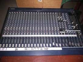 Remato mezclador 24 ch;shure SM58 inalamb.; mics.bateria;procesador DBX.