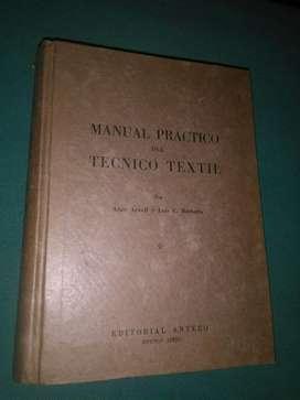 Manual Practico Del Tecnico Textil Atwell y Barberis Libro Anteco 1946