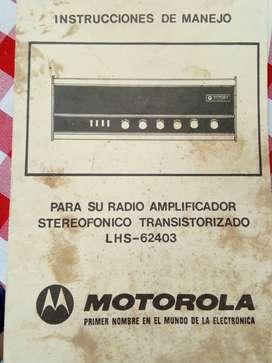 Clásico Radio / equipo de sonido Motorola