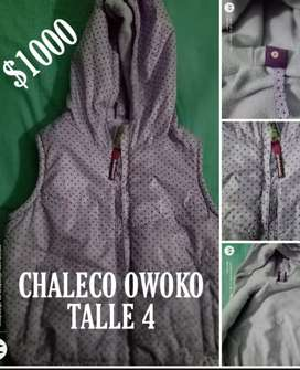 Chaleco OWOKO talle 4