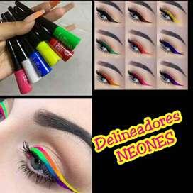 Delineadores Neones y paletas de alta pigmentación