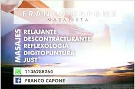 Masaje palermo (Medico UBA) Masoterapia y descontracturantes. Masajista Profesional