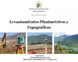 Se realiza levantamientos planimétricos y topograficos