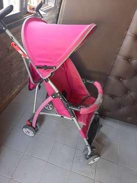 Coche Paraguita rosa Infanty.