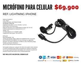 Micrófono para celular entrada tipo iPhone