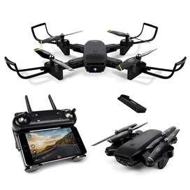 Dron doble cámara full HD 960 p 2mpx wifi optical led