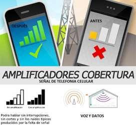 Antena amplificador doble banda 4G redes celulares telefonia cobertura rural señal potente finca todos operadores
