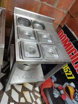 Ganga montaje para negocio de fritos