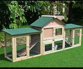 Casas en madera conejos