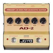 Joyo AD2 Caja preamplificada / DI para guitarra acústica