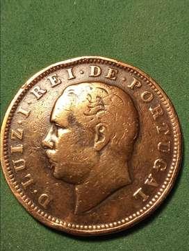 #Moneda Portugal 20 reis 1884